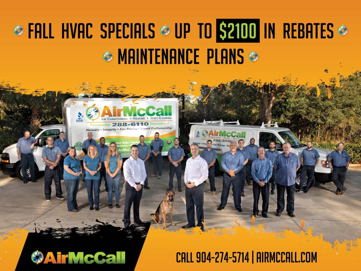Jacksonville Fl Leading Hvac Company Offering Fall Hvac Specials Of Up To 2100 In Rebates Air Mccall